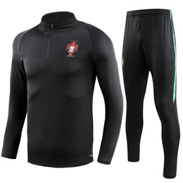Chinese  2018 PORTUGAL Thailand soccer tracksuit 18-19 PORTUGAL Training suit pants football training clothes sportswear mens Sweater suit manufacturers
