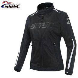 $enCountryForm.capitalKeyWord Australia - Women Motocross Jacket Spring Summer Motorcycle Jacket breathable Mesh Riding moto protective clothing with black