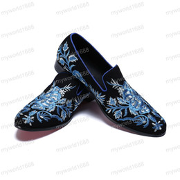 $enCountryForm.capitalKeyWord NZ - Male Korean Black Trend Summer Shoes Breathable Flower Loafers Pointed Wild Leather British Men's Business Shoes