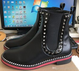 low priced ee307 219c8 Red Bottom Flat Boots NZ | Buy New Red Bottom Flat Boots ...