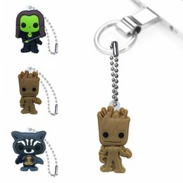 Discount school clothes for boys - MOQ=20pcs Guardians of the Galaxy Keychains Ball Chains for School Bags Clothing Car Key Holder Accessories Fashion Hang