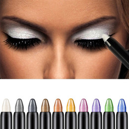 $enCountryForm.capitalKeyWord Australia - Hot Sale Highlighter Eyeshadow Pencil for Beauty makeup Cosmetic Tools Glitter Eye Shadow Eyeliner Pen 10 Colors to choose