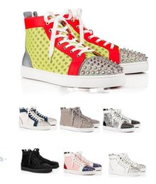 Men Leisure Shoes Price Australia - Factory Price Wholesale High-top Spikes Designer Sneaker Shoes Perfect Quality Women,Men Casual Walking 17 Colors Style Leisure