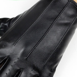 men leather half gloves Australia - Fashion- Male Cool Leather Gloves Fashion Men Fingerless Glove for Dance Party HalF Finger Sport Fitness Luvas Free Shipping