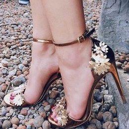 $enCountryForm.capitalKeyWord Australia - Do Metal Fund Texture Manual Flower Decoration High-heeled Shoes Woman Sandals Yes Fashion2019 40 Code