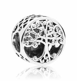 Vintage tribal jewelry online shopping - Vintage Punk Tibet Silver Color Alphabet Heart Family Tree Charm Beads Fit Original Pandora Bracelet Bangle Tribal Diy Jewelry