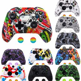 xbox thumb grips UK - 9XY82 Protective Cover for Sleeve Skin Analog Thumb Grip Stick Cap Soft Silicone Case Waterproof Anti-Slip Gamepad XBox Controller