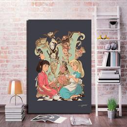 $enCountryForm.capitalKeyWord Australia - Chihiro No Face Canvas Painting Baby Nursery Wall Art Poster Print Nordic Kids Decoration Picture Boy Children Bedroom Decor