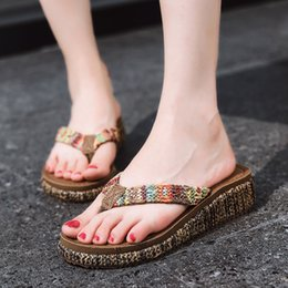$enCountryForm.capitalKeyWord Australia - Charming2019 Nation Second Posimi Wind Beach Slope With Thick Bottom Flip Flops The Trend Of Summer Women's Shoes