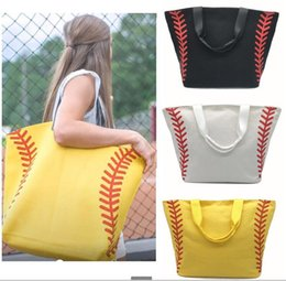 $enCountryForm.capitalKeyWord NZ - Women Large Softball Baseball football Printing Girls Tote Bags Sports Handbags Baseball Softball Tote Bags Baseball Beach Tote Bag