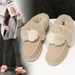 female slip silk Australia - 2018 Casual Shoes Women Fashion Brand Warm Snow Boots Lady chaussure Winter New Female footware Hairball with Fur Boots