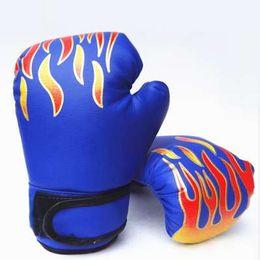$enCountryForm.capitalKeyWord UK - Professional Kids Children Flame Boxing Gloves Punch For Boy Beginner Sanda Sparring Training Mitts Protector