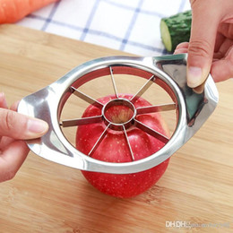Metal Pear NZ - Stainless steel Apple Slicer Vegetable Fruit Apple Pear Cutter Slicer Processing Kitchen slicing knives Utensil Tool