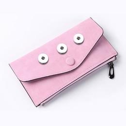 Опт Aging лечения мешок Snap кнопки Портмоне Pu кожаный кошелек сумки Подвески ювелирные изделия браслета для кнопки 18мм Женщины Fit