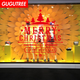 sports christmas decorations NZ - Decorate Home merry christmas new year art wall sticker decoration Decals mural painting Removable Decor Wallpaper G-1177