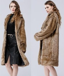 Faux Mink Jackets Australia - Autumn faux mink leather jacket womens long coats winter thicken warm fur leather trchen coat women slim jackets fashion 6XL