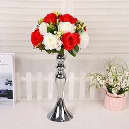 TradiTional home decoraTion online shopping - Mermaid Wedding Vases Metal Silvery Color To cm Length Exquisite Flower Candle Holders Home Furnishing Decoration db3