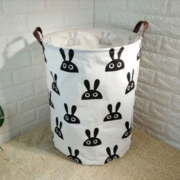 toy baskets Canada - 40*50cm New Storage Basket Dirty Cloth Cartoon Castle Baby Clothes Baskets Waterproof Storage Basket For Toys Organzier Foldable SH190923