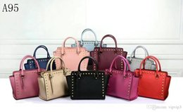 $enCountryForm.capitalKeyWord Australia - [Classic] designer handbag leather female luxury handbag fashion hand bag sanding pattern ladies money explosion models 10 colors medium siz