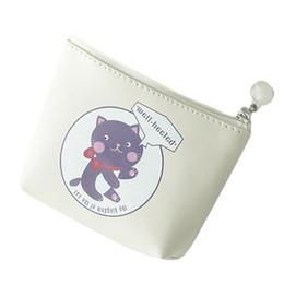 Fabric Zipper Pouch Wholesale Australia - Non-Woven Fabric Girls Print Flower Snacks Coin Purse Wallet Bag Change Pouch Key Holder Zipper Poucht Monederos Para Ninas
