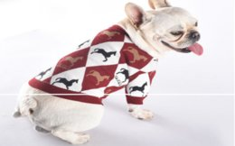 small fat UK - Dog clothes autumn and winter clothing big card sweater cardigan schnauzer law fighting baggage fat dog cat pet warm clothing H16