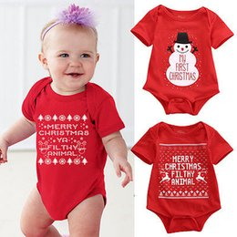 $enCountryForm.capitalKeyWord Australia - Newborn Baby Girls Boys Christmas Romper Santa Claus Bodysuit snowflakes Jumpsuit baby Outfit Set Christmas