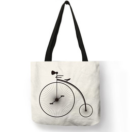 $enCountryForm.capitalKeyWord NZ - Unique Fresh Bicycle Style Female Shoulder Bag Travel Theme Letter Print Handbag Girl Students Portable Casual School Book Totes