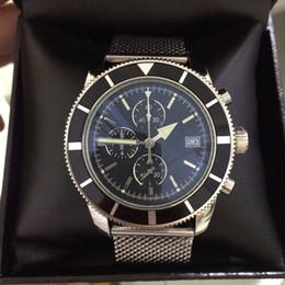 superocean heritage watch 2019 - New designer watch men superocean heritage chronograph VK quartz avengers 46mm mens watches stainless steel bracelet mal