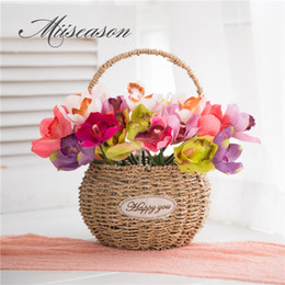 $enCountryForm.capitalKeyWord Australia - Artificial flowers 7 head orchid home decoration hotel table fake flower decoration wedding bride bridesmaid holding bouquet