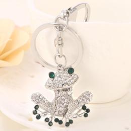 Rhinestone Bag Keychain Australia - frog keychain Novelty Fashion Rhinestone  Cute Frog Keychain Alloy Key Chains 961c6bd9e