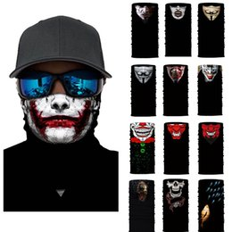 skeleton masks bicycle UK - Seamless Skull Skeleton Joker Clown Balaclava Tube Motorcycle Neck Face Mask Scarf Bicycle Hunting Outdoor Ride Bandana Headband