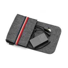 mouse clothing NZ - Mini Data Cable Mouse Charger Storage Bag Key Coin Package Felt Earphone SD Card Power Bank storage bag Home Storage Organizer
