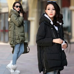 $enCountryForm.capitalKeyWord Australia - Maternity Winter Coat Long Hooded Thicken Down Jacket Casual Coat for Pregnant Women Pregnancy Clothes Outerwear Plus Size S-5XL T190903