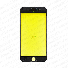Discount front glass lens frame iphone - 500PCS OEM Front Outer Touch Screen Glass Lens with Frame for iPhone 5 5s 6 Plus 6s Plus 7 Plus free DHL