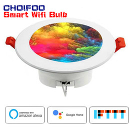 Down light rounD leD online shopping - Colorful WiFi Control Full Function with Google Home Assistant Alexa Homekit LED Smart Down Light RGBW Round Recessed Spot Light