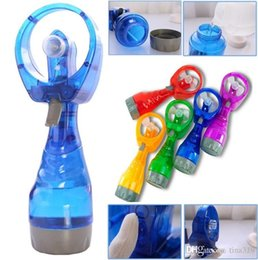 Water Cooling Handheld Fan Australia - New Summer Portable Mini Hand Battery Power Mist Fan 10 Colors Air Water Bottle Cooling Handheld Spray Fans Novelty Items 48pcs I288