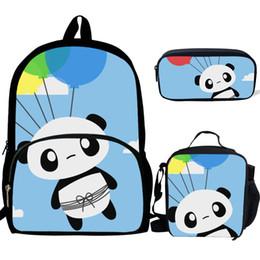 $enCountryForm.capitalKeyWord Australia - 3PS Customized Cartoon Cute Panda Pattern Print School Backpack For Girls Boys Orthopedic Schoolbag Backpacks Children Luch Bag