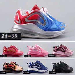 Baby Shoes Red White Australia - 2019 New Kids 720 Boy Girl Running Shoes Baby Parent Children Black Red White Pink Blue Trainers Shoes Outdoor Shoes EUR28-35