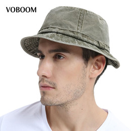 cap japanese hats NZ - Voboom Cotton Uv Protection Bucket Hat For Men Summer Boonie Hunting Fishing Fisherman Hats Travel Japanese Sun Cap 163 Y19070503