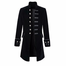 Red coat cosplay online shopping - Prince Coat Steampunk Middle Ages men Goth Coat Overcoat Full Sleeve Keep Warm Wind Long Costumes Coats Halloween cosplay