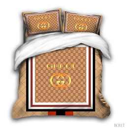 Großhandel 3D-Designer-Bettwäsche-Set King-Size-Luxus-Bettbezug Kissenbezug Queen-Size-Bettbezug Designerbett Decke setzen D7