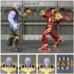 "Man War Model Australia - Marvel Shf Thanos Iron Man Mk50 Mk85 6"" Endgame Action Figure Tesseract Mcu Stones Avengers Infinity War Ko's S.h.figuarts Toys Q190604"