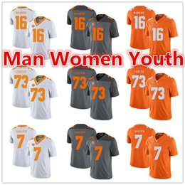 peyton jerseys UK - custom made NCAA Tennessee Volunteers football jerseys Peyton Manning 16 Ramon Foster 73 Rashaan Gaulden 7 jersey any name number size S-5XL
