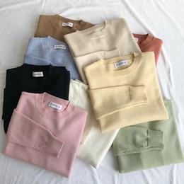 Korean yarn online shopping - Mooirue Autumn Female Kawaii Sweater Korean Comfortable Yarn Thin Elastic Jumper Feminine Yellow Grey Sweater Y190923