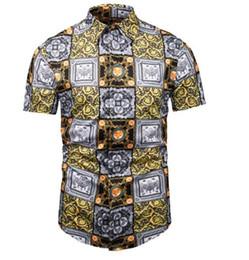 9502320c Chemise DG Dress Shirts Men Luxury Designer Medusa Casual Shirts Fashion  Summer Short Sleeve Retro Lion Floral Print Brand Giv tees shirt