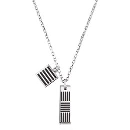 $enCountryForm.capitalKeyWord Canada - Latest Vuittton DAMIER BLACK NECKLACE Letter Block Necklace Men Women Hip Hop Outdoor Street Accessories Festival Gift Necklace HFLSXL003
