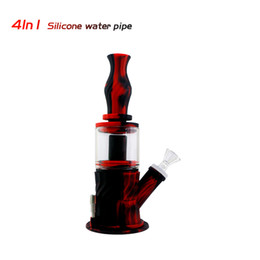 nectar collector herb Canada - Silicone Bong Glass Bong Waxmaid New 4 in 1 Nectar Collector Smoking Water Bong Dab Rig Oil Rig for Dry Herb