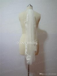 White Elbow Length Veils Australia - Real Photo Cheap Veils Short Designer Single Cut Applique Crystal Elbow Length Two Layer Wedding Veil With Comb High Quality Free Shipping