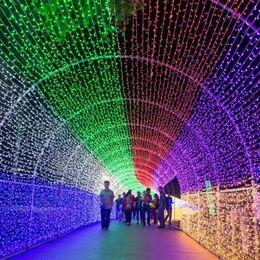 Ingrosso 10 Metri 100 Lampada Led colorato Luci lampeggianti Festival Decorazione Natale all'aperto Lampada String Portare inserto di coda