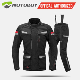 yellow jacket fabric 2019 - Motoboy motorcycle jacket Sets Oxford Fabric Jacket Motorcycle Suit warm liner water proof protective gear CE pad J08 P0